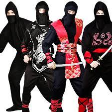 Samurai Halloween Costume Ninja Warrior Mens Fancy Dress Japanese Samurai Martial Arts