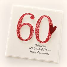 60th wedding anniversary wishes 60th anniversary custom card personalised wedding husband