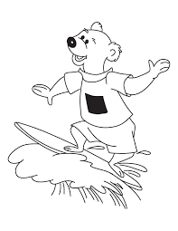 bear surfing coloring download free bear surfing coloring