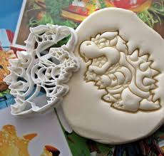 super mario bowser cookie cutter made from biodegradable