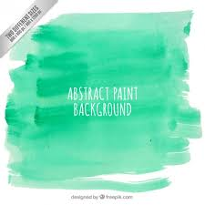 abstract paint background in green color vector free download