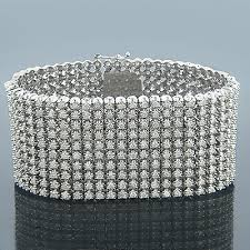 diamond bracelet cuff images 14k gold 10 row mens diamond bracelet cuff 30 60ct jpg