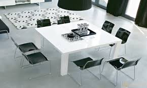 Modern White Dining Room Table Beautiful Dining Room Table Square Images Rugoingmyway Us