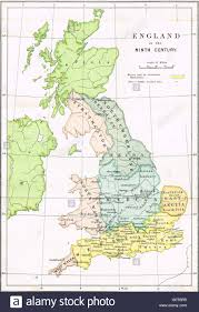 Maps Of England by Map Of England In The Ninth Century Showing The Anglo Saxon