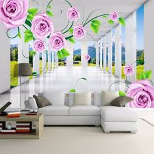 compare prices on wallpaper for bedroom wall online shopping buy custom photo murals modern 3d stereo space rose vines living room sofa tv background wall painting