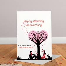 wedding anniversary cards anniversary card images with name