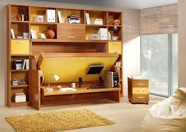 folding bed in cabinet with new york accessories for bedroom