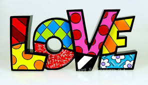 britto garden romero britto word art love pop artist from miami amazon co