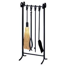 5 piece fireplace tool set with log rack ft99br the home depot