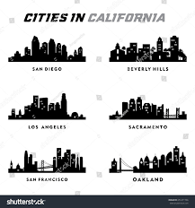 California travel city images California silhouette cities city tour travel stock vector jpg