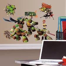 roommates rmk2246scs teenage mutant ninja turtles peel and stick roommates rmk2246scs teenage mutant ninja turtles peel and stick wall decals decorative wall appliques amazon com