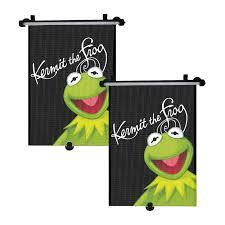 2x genuine disney muppets kermit frog car sun shade roller window