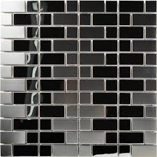 TST Stainless Steel Mosaic Tile Silver Mirror Glass Tiles - Cutting stainless steel backsplash