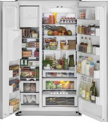Home Storage Options by Monogram Zis480dk 48 Inch Built In Side By Side Refrigerator With