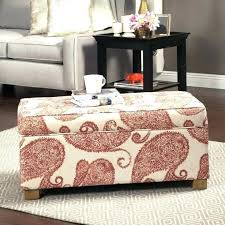 ottoman with patterned fabric exotic patterned ottoman studio script patterned french laundry