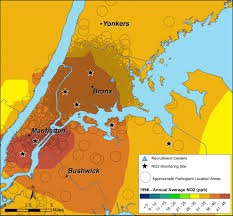 Nyc Maps Air Pollution And Asthma In Children Asthma Collaboratory Ucsf