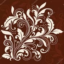 swirly ornamental flourish design stock vector blue67 7911543