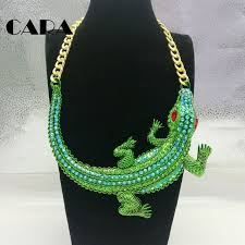 big necklace images 2018 new women big choker statement necklaces green rhinestones jpg