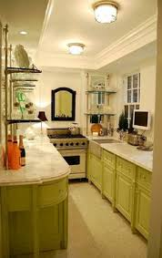 Galley Kitchen Rugs The White Cabinets The Marble And The Floor In This Small