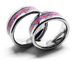 Dixi Flag Dixie Flag His U0026 Hers Couples Ring Set Silver Flags Southern
