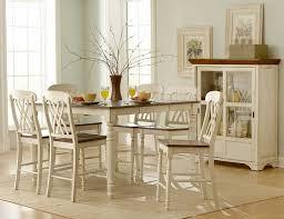 Homelegance Ohana Counter Height Table White W - Ohana white round dining room set