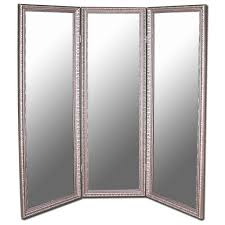 Pier One Room Divider Decorating Tri Fold Full Length Mirror Mirrored Room Divider