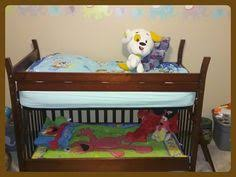 When To Convert Crib Into Toddler Bed This Is A Crib Turned Into A Toddler Bunk Bed