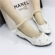 wedding shoes ivory white flat shoes handmade wedding wedding shoes lace pearl