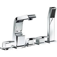 astini garcia chrome 5th bath shower mixer tap u0026 shower kit