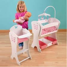 Baby Doll High Chair Set Kidkraft Pretty Butterfly Doll Furniture Set Beautiful Matching 2