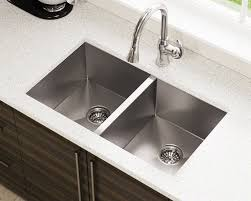 Kitchen Double Sink | 3322d double equal rectangular stainless steel kitchen sink