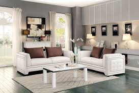 homelegance azure sofa faux leather off white 8478 3