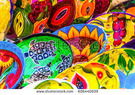 Handmade Mexican Pottery - mexican pottery stock images royalty free images vectors