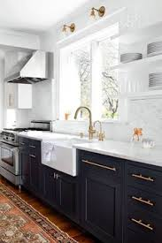 Break Out The Paint Blue Kitchens Are Très Chic Right Now Navy - Navy kitchen cabinets