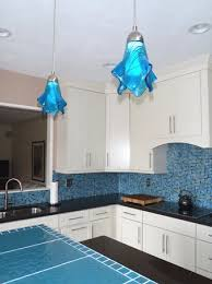 Turquoise Glass Pendant Light Glass Pendant Light Is Coastal Beach Deep Turquoise Art Glass