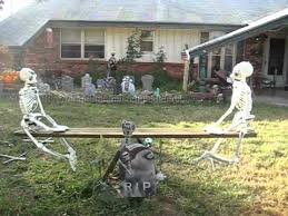 halloween yard decoration ghostly seesaw teeter totter youtube