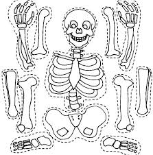 coloring page bone coloring pages skeleton and his bones part