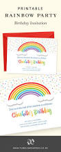 best 25 rainbow birthday invitations ideas only on pinterest