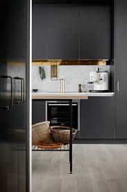 Black Kitchen Design Kitchen In Black Brass And Marble Coco Lapine Designcoco Lapine