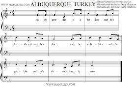 albuquerque turkey american children s songs the usa