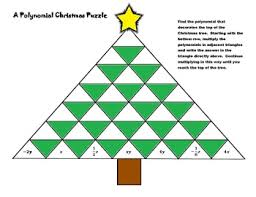 a polynomial christmas puzzle this is a fun worksheet for the