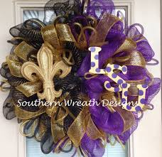 lsu saints wreath geaux teams wreaths pinterest saints