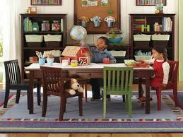 Playrooms Childrens Playrooms Craft Table And Chairs With Wood Walls For