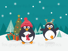 penguins and christmas tree fox graphics