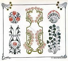 nouveau ornaments graphic design deco period 1910