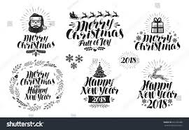 merry happy new year label stock vector 622186088