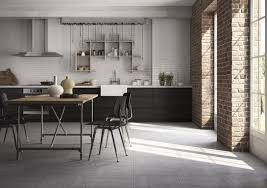 carrelage pour sol de cuisine sol de cuisine en grès cérame effet ciment brut carrelage de