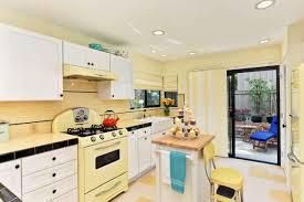 white kitchen yellow walls interior design