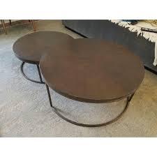gold nesting coffee table mitchell gold bob williams bassey nesting coffee tables chairish