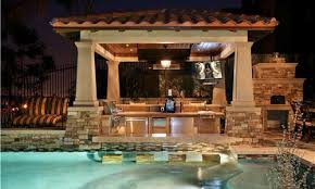 Home Design Ideas With Pool Pool And Outdoor Kitchen Designs Home Interior Design